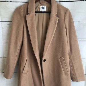 OLD NAVY Camel One Button Coat. EUC!!!!